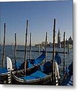 Gondolas In The Bacino Di San Marco Metal Print