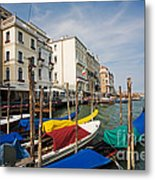 Gondolas On The Grand Canal Metal Print