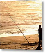 Gone Fishin' Instead Of Just A-wishin' Metal Print