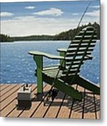 Gone Fishing Metal Print