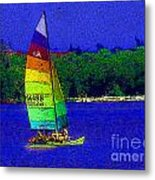Gone For A Sail Metal Print