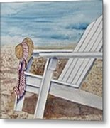 Gone For A Walk Metal Print
