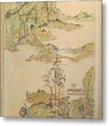 Gongbi Landscape # 4 Metal Print