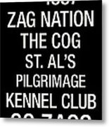 Gonzaga College Town Wall Art Metal Print by Replay Photos
