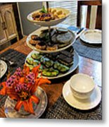 Good Eats In A Lovely Setting Metal Print