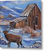 Good Morning Elk Metal Print