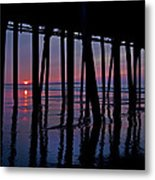 Good Morning Old Orchard Silhouette   Metal Print
