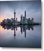 Good Morning Shanghai Metal Print