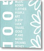 Good Things Blue Metal Print