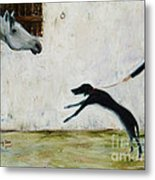 Good To See You Again Metal Print by Xueling Zou