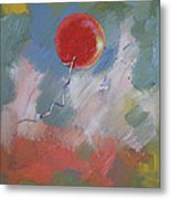 Goodbye Red Balloon Metal Print by Michael Creese