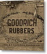Goodrich Rubbers Boot Box Metal Print by Tom Mc Nemar
