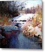 Goose Creek Winter Metal Print