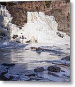 Gooseberry Middle Falls In Winter Metal Print