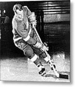 Gordie Howe Skating With The Puck Metal Print by Gianfranco Weiss