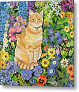 Gordon S Cat Metal Print by Hilary Jones