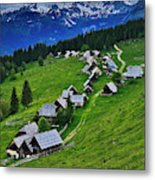 Goreljek Shepherding Village In Alpine Metal Print