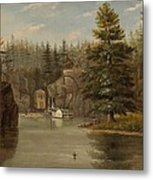 Gorge Of The St Croix Metal Print by Henry Lewis
