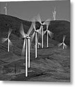 Gorge Windmills B W Metal Print