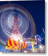 Gosford Ferris Wheel Metal Print by Steve Caldwell