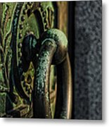 Goth - Crypt Door Knocker Metal Print by Paul Ward