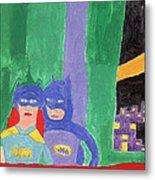 Gotham Heroes  Metal Print