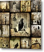 Gothic And Crows Metal Print