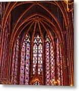 Gothic Architecture Inside Sainte Metal Print