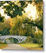 Gothic Bridge In Central Park Metal Print