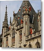 Gothic Bruges Metal Print