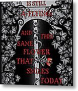 Gothic Celtic Impermanence Metal Print