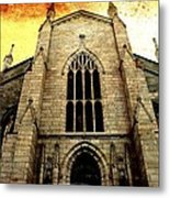 Gothic Church Cathedral Photograph Metal Print