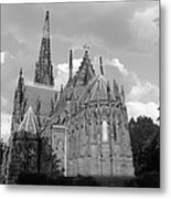 Gothic Church In Black And White Metal Print