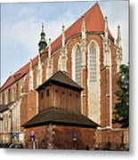 Gothic Church Of St. Catherine In Krakow Metal Print