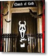 Gothic Church Sentinel Metal Print