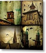 Gothic Churches And Crows Metal Print