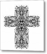 Gothic Cross Metal Print