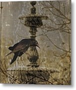 Gothic Fountain Metal Print