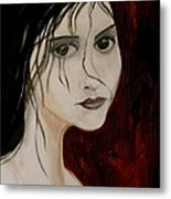 Gothic Portrait Of Woman Painting Metal Print