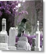 Gothic Purple Metal Print