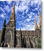 Gothic Revival Style St Patrick's Cathedral In Melbourne Metal Print