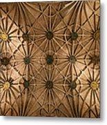Gothic Ribbed Vault Of Jeronimos Monastery Church Metal Print
