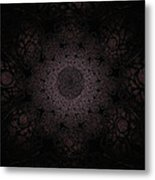 Gothic Stained Glass - Black Metal Print