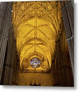 Gothic Vault Of The Seville Cathedral Metal Print