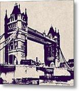 Gothic Victorian Tower Bridge - London Metal Print