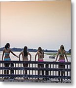 Goulds Creek Girls Metal Print