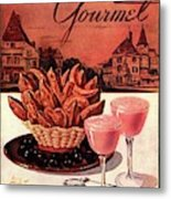 Gourmet Cover Featuring A Basket Of Potato Curls Metal Print