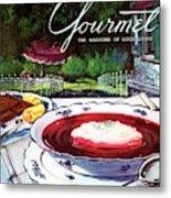 Gourmet Cover Featuring A Bowl Of Borsch Metal Print
