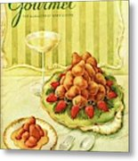 Gourmet Cover Featuring A Plate Of Beignets Metal Print