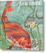 Gourmet Cover Featuring A Snapper And Pompano Metal Print